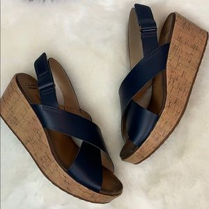 5a37c8bb6066 Clarks Shoes - •Clarks• Annadel Eirwyn Slingback Wedge Sandals 10
